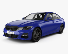 3D model of BMW 3 Series (G20) M Sport sedan 2019