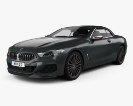 3D model of BMW 8 Series M850i convertible 2019