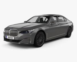 3D model of BMW 7-series L 2019