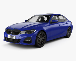 3D model of BMW 3 Series M-Sport sedan with HQ interior 2019
