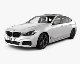 3D model of BMW 6 Series Gran Turismo M-Sport with HQ interior 2017