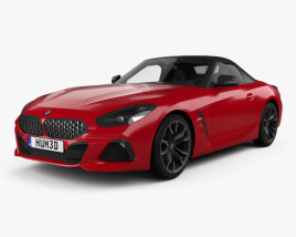 3D model of BMW Z4 M40i First Edition roadster with HQ interior 2019