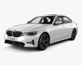 3D model of BMW 3 Series Sport Line sedan with HQ interior 2019