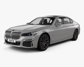 3D model of BMW 7 Series Le 2020
