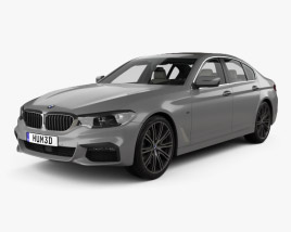 3D model of BMW 5 Series M-Sport sedan with HQ interior 2017