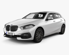 3D model of BMW 1-series (F40) Sportline 2019