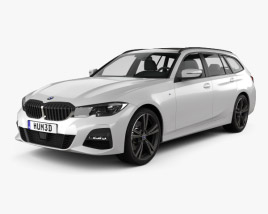 3D model of BMW 3 Series (G21) M-Sport touring 2019