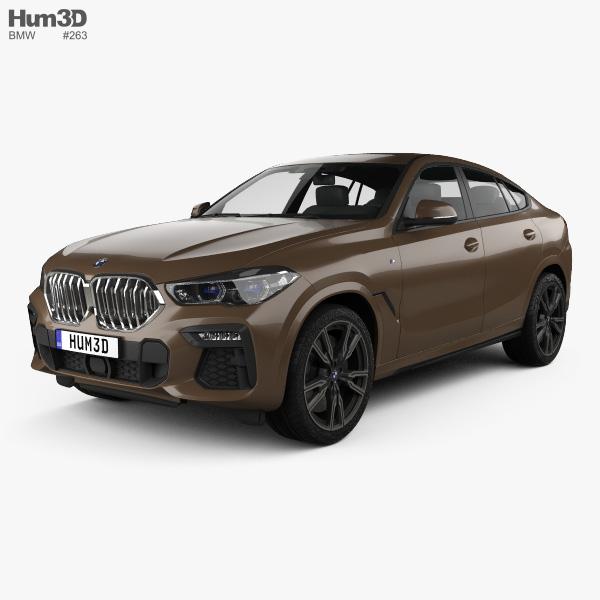3D model of BMW X6 M-sport 2020