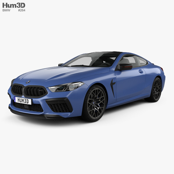 3D model of BMW 8 Series (F92) M8 Competition coupe 2019