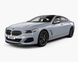 3D model of BMW 8 Series (G16) GranCoupe M-sport 2019