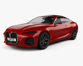 3D model of BMW 4 Series 2019