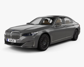 3D model of BMW 7-series L with HQ interior 2019