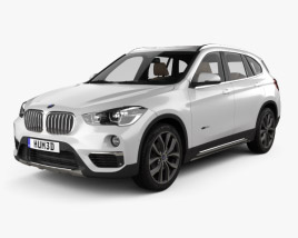 3D model of BMW X1 (F48) with HQ interior 2015
