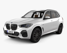 3D model of BMW X5 M-sport with HQ interior 2019