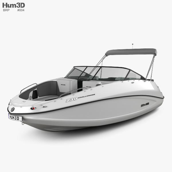 BRP Sea-Doo Challenger 230 2012 Sport Boat Modello 3D