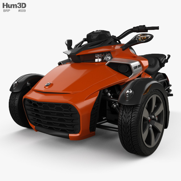 BRP Can-Am Spyder F3 2015 3D model