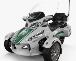 BRP Can-Am Spyder Police Dubai 2014 3D model