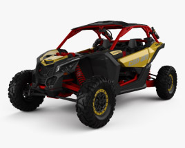 3D model of BRP Can-am Maverick X3 XRS with HQ interior 2017