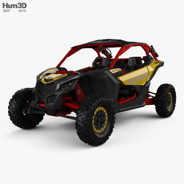 BRP Can-am Maverick X3 XRS with HQ interior 2017 3D model
