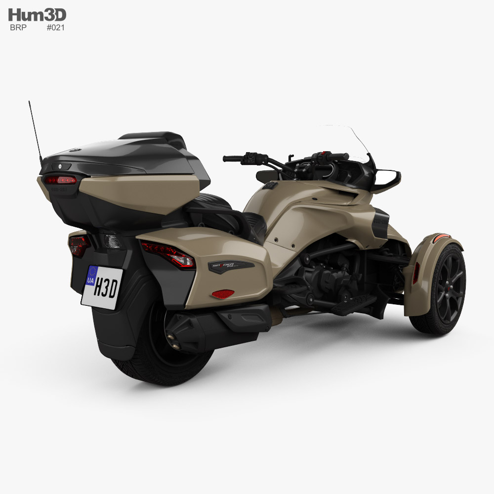 BRP Can-Am Spyder F3 Limited 2020 3d model