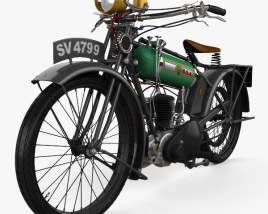 3D model of BSA Model B Round Tank 1924