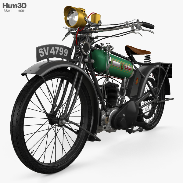 BSA Model B Round Tank 1924 3D model