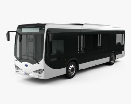 3D model of BYD K9 Bus 2010