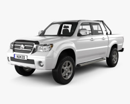 3D model of Bahman Capra 2 Double Cab 2017