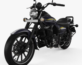 3D model of Bajaj Avenger Street 150 2015