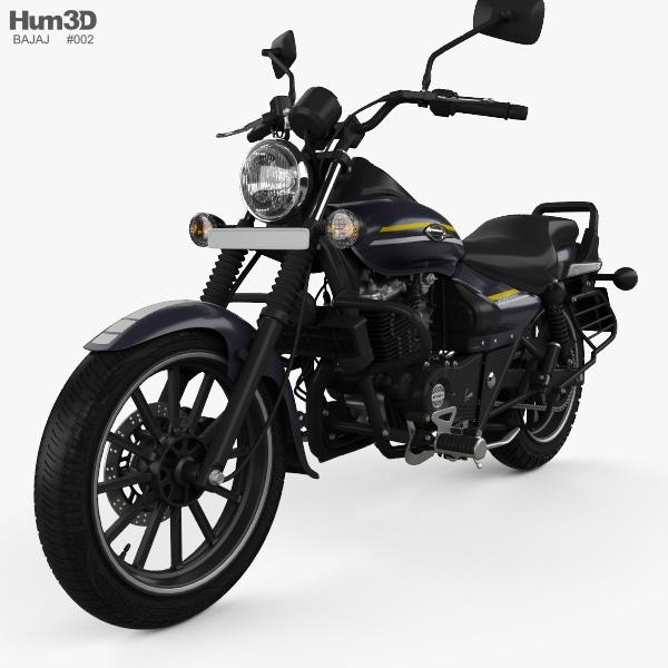 Bajaj Avenger Street 150 2015 Modelo 3d