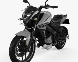 3D model of Bajaj Pulsar NS200 2018