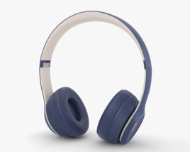 3D model of Beats Solo 3 Wireless Navy