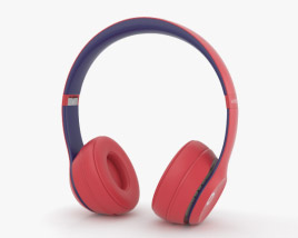 3D model of Beats Solo 3 Wireless Red