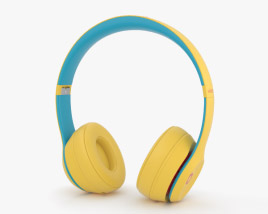3D model of Beats Solo 3 Wireless Yellow