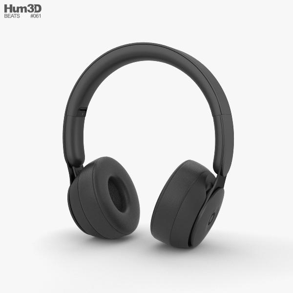 Beats Solo Pro Black 3D model