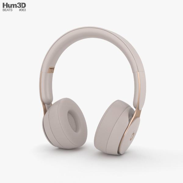 Beats Solo Pro Gray 3D model