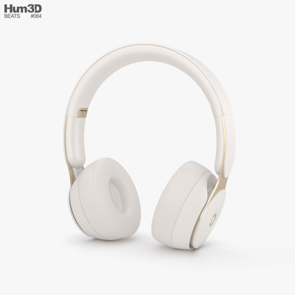 Beats Solo Pro Ivory 3D model