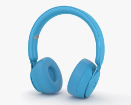 3D model of Beats Solo Pro Light Blue
