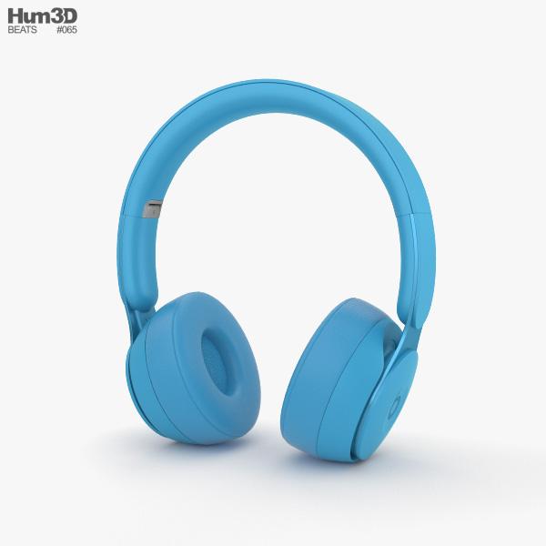 Beats Solo Pro Light Blue 3D model