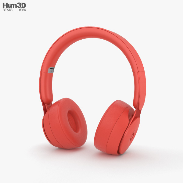 Beats Solo Pro Red 3D model