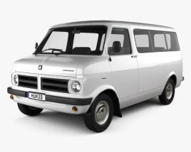3D model of Bedford CF Minibus 1969-1979
