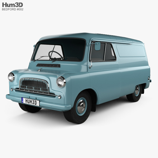 3D model of Bedford CA Panel Van 1965