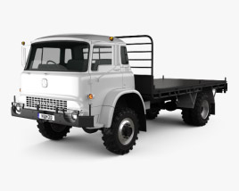 3D model of Bedford MK Flatbed Truck 1972