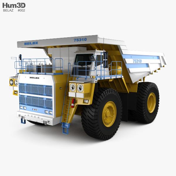 BelAZ 75310 Dump Truck 2016 3D model