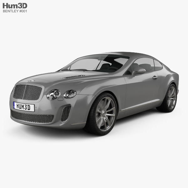 Bentley Continental Supersports coupe 2010 3D model