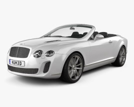 3D model of Bentley Continental Supersports convertible 2010