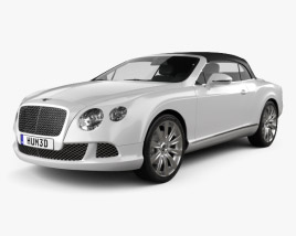 3D model of Bentley Continental GT Convertible 2012
