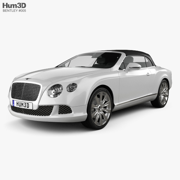 Bentley Continental GT Cabriolet 2012 3D-Modell