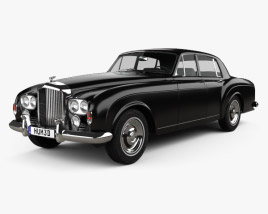 3D model of Bentley S3 Continental Flying Spur Saloon 1964