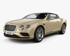 3D model of Bentley Continental GTC 2015